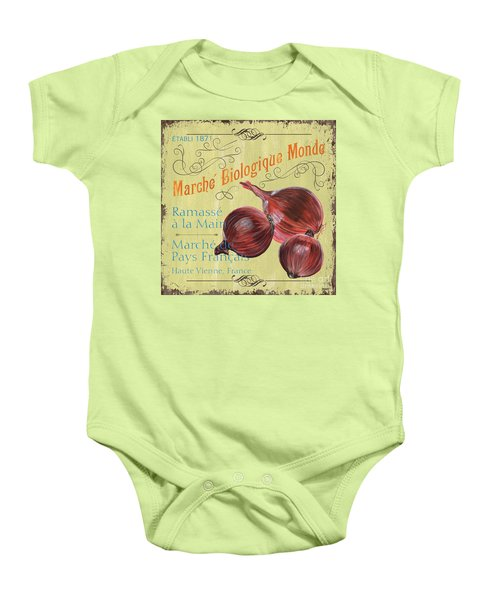 French Market Sign 4 Baby Onesie by Debbie DeWitt