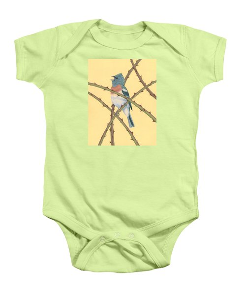Lazuli Bunting Baby Onesie by Nathan Marcy