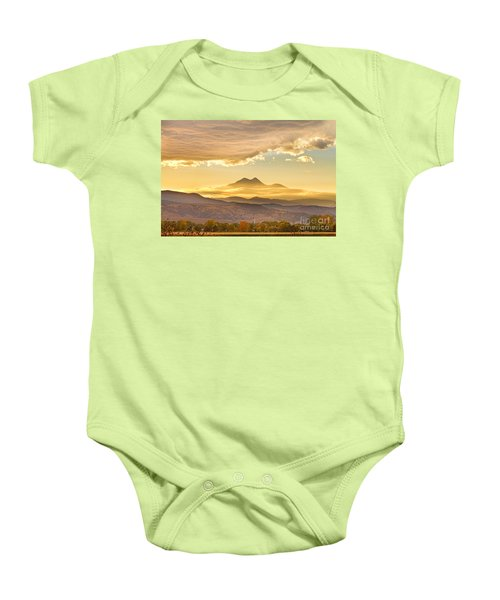 Longs Peak Autumn Sunset Baby Onesie by James BO  Insogna