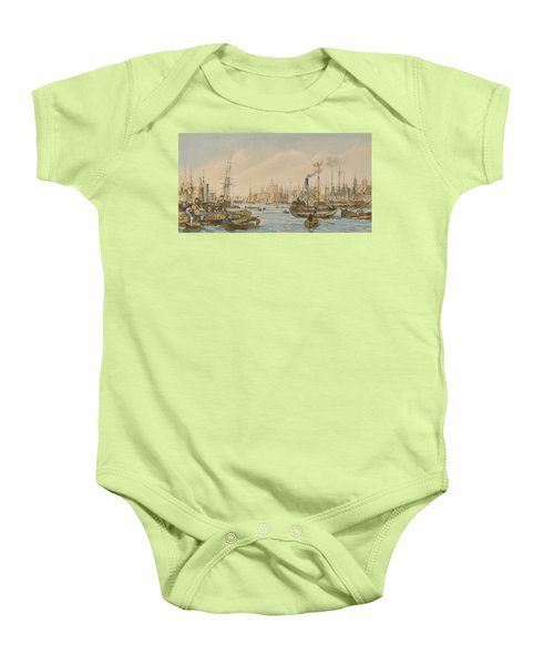 Looking Towards London Bridge Baby Onesie by William Parrot