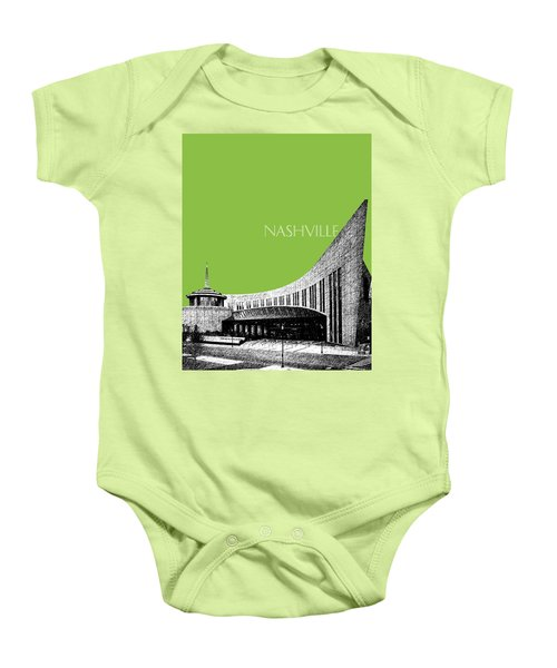 Nashville Skyline Country Music Hall Of Fame - Olive Baby Onesie