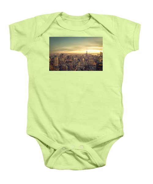 New York City - Skyline At Sunset Baby Onesie