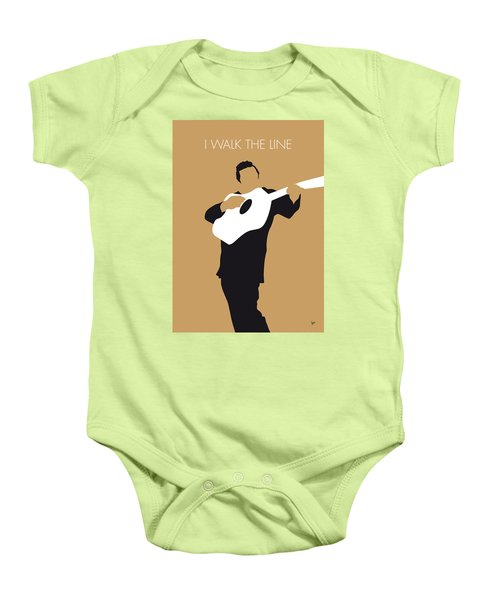 No010 My Johnny Cash Minimal Music Poster Baby Onesie by Chungkong Art