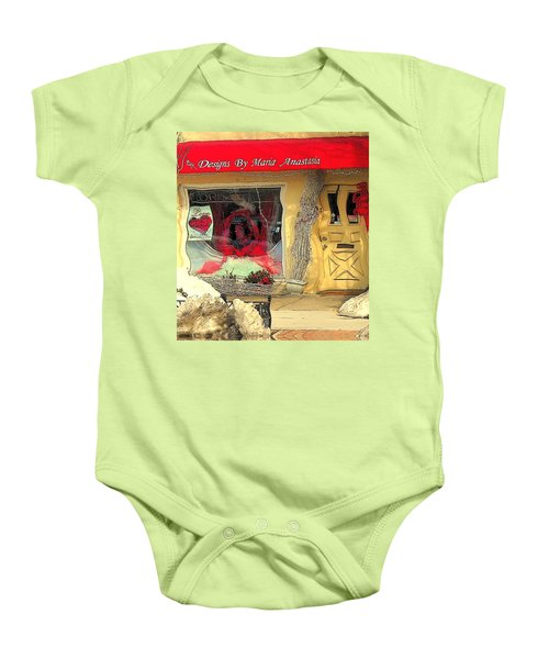 Rouge On The Rue Baby Onesie by Tami Quigley
