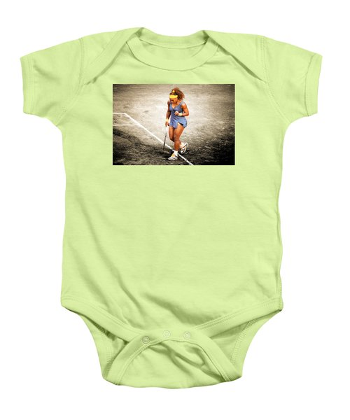 Serena Williams Count It Baby Onesie by Brian Reaves