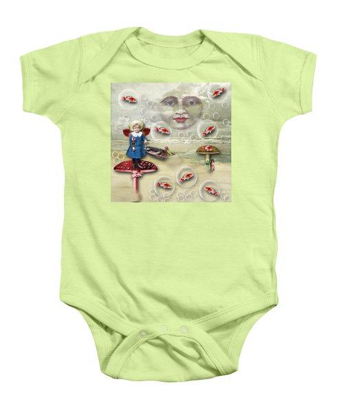 Something Fishy At The Shore Baby Onesie