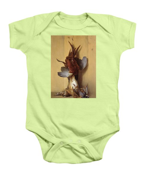 Still Life With A Hare, A Pheasant And A Red Partridge Baby Onesie