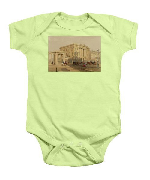 The Exterior Of Apsley House, 1853 Baby Onesie by English School
