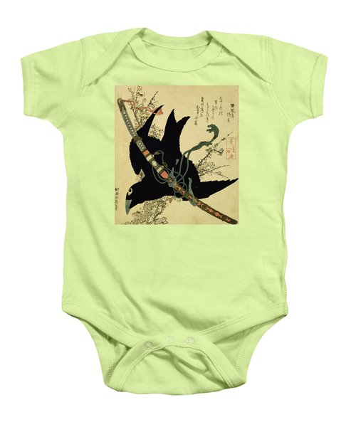 The Little Raven With The Minamoto Clan Sword Baby Onesie