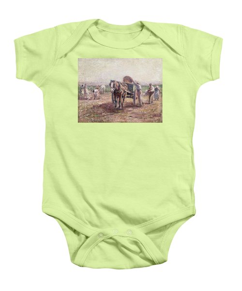 The Potato Pickers Baby Onesie by Harry Fidler
