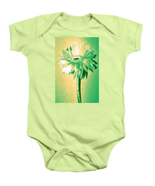 Touch Of Turquoise Zinnia Baby Onesie