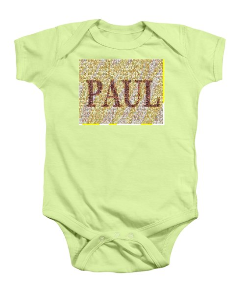 Custom Paul Mosaic Taylor Swift Baby Onesie by Paul Van Scott