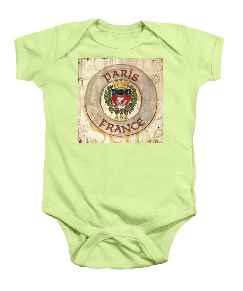 French Coat Of Arms Baby Onesie by Debbie DeWitt