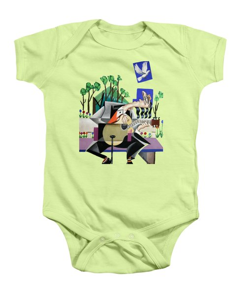 Music A Gift From The Holy Spirit Baby Onesie by Anthony Falbo