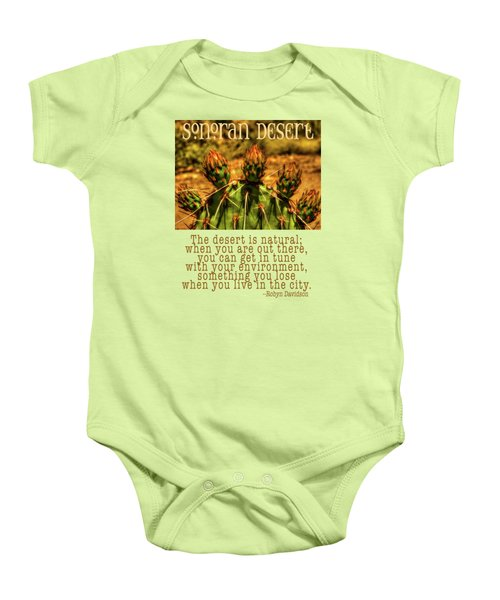 Prickly Pear Cactus Baby Onesie by Roger Passman