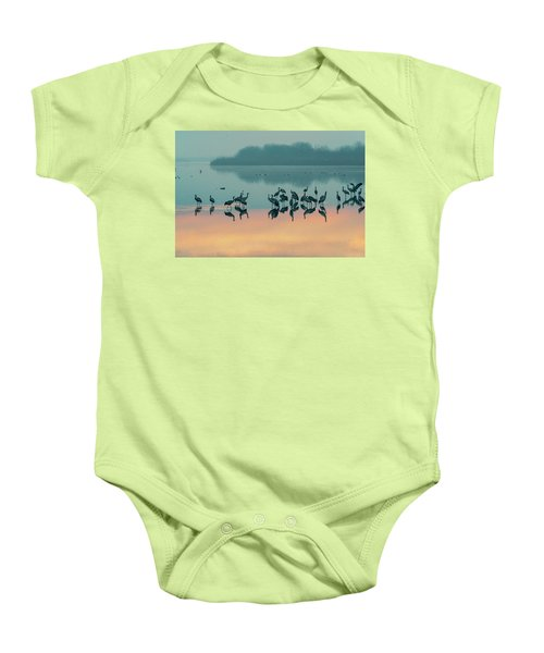 Sunrise Over The Hula Valley Baby Onesie