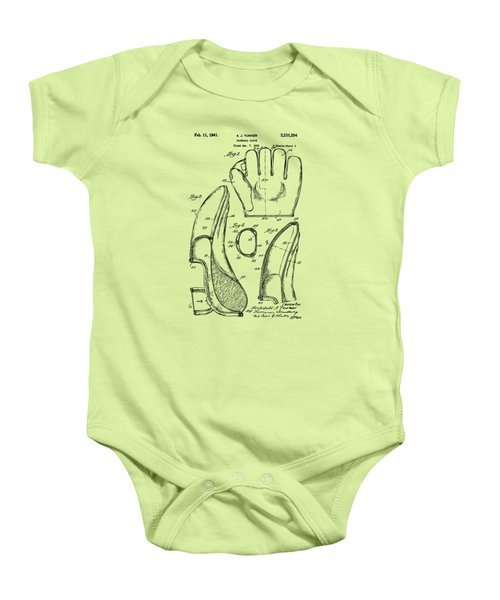 1941 Baseball Glove Patent - Vintage Baby Onesie by Nikki Marie Smith