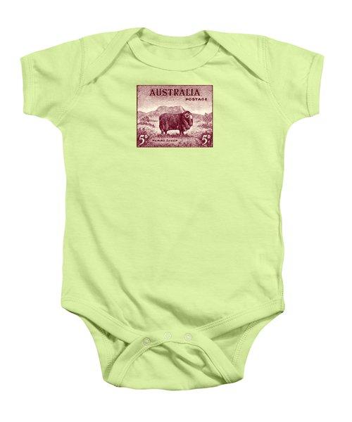 1946 Australian Merino Sheep Stamp Baby Onesie