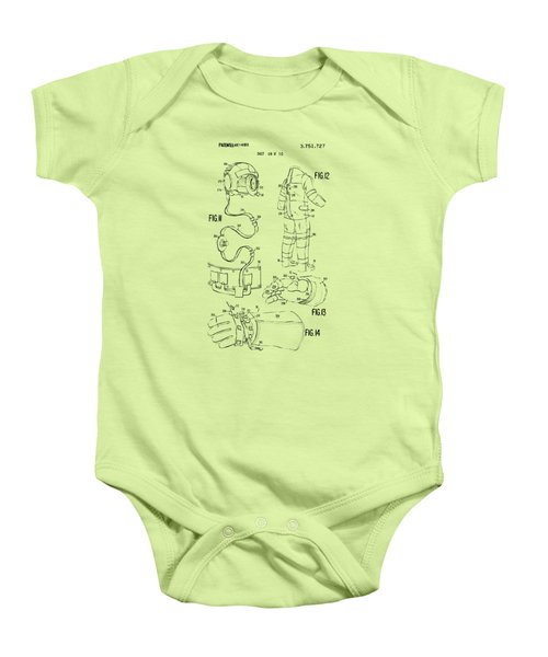 1973 Space Suit Elements Patent Artwork - Vintage Baby Onesie