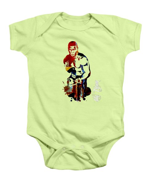 Mike Tyson Collection Baby Onesie by Marvin Blaine