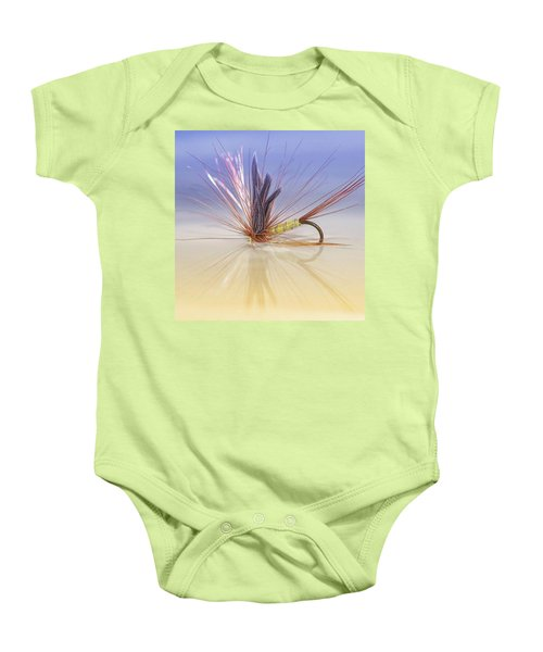 A Trout Fly (greenwell's Glory) Baby Onesie