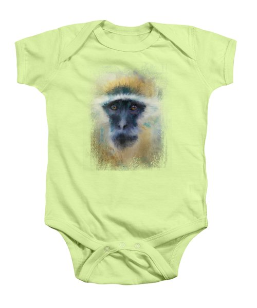 African Grivet Monkey Baby Onesie by Jai Johnson