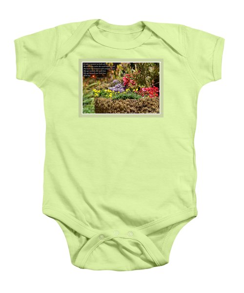 And So In This Moment With Sunlight Above II Baby Onesie by Jim Fitzpatrick