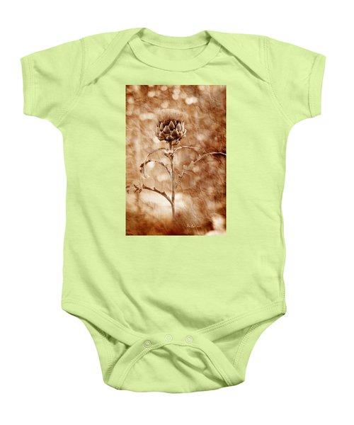 Artichoke Bloom Baby Onesie by La Rae  Roberts
