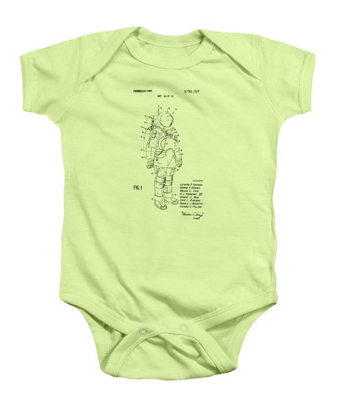1973 Space Suit Patent Inventors Artwork - Vintage Baby Onesie