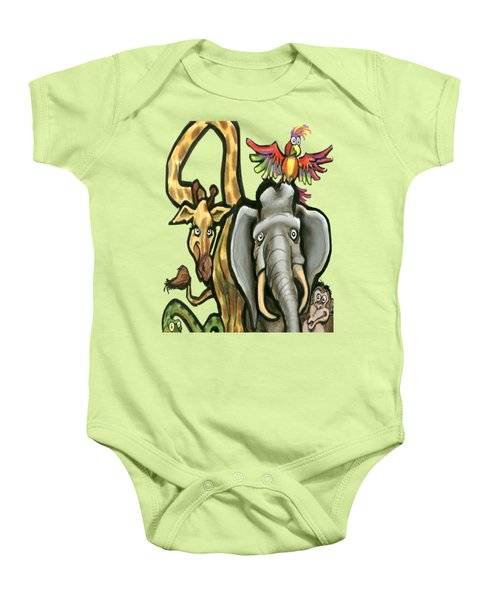 Zoo Animals Baby Onesie by Kevin Middleton