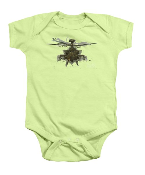 Apache Helicopter Abstract Baby Onesie by Roy Pedersen