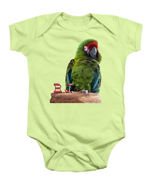 B. J., The Military Macaw Baby Onesie by Zazu's House Parrot Sanctuary