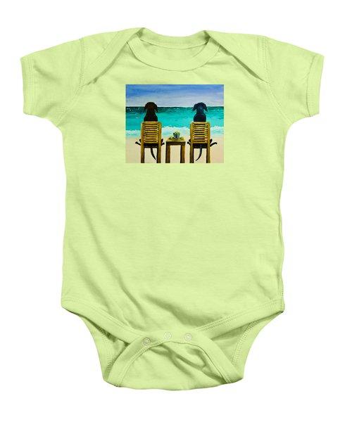 Beach Bums Baby Onesie