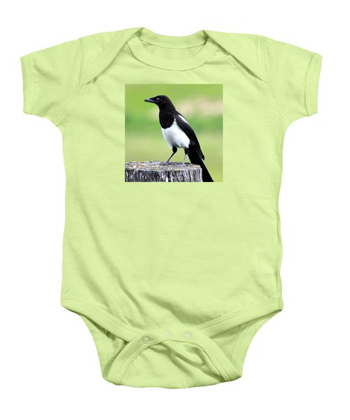 Black-billed Magpie Baby Onesie