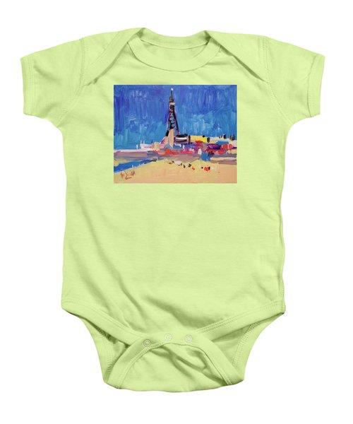 Blue Sky Blackpool Baby Onesie by Nop Briex