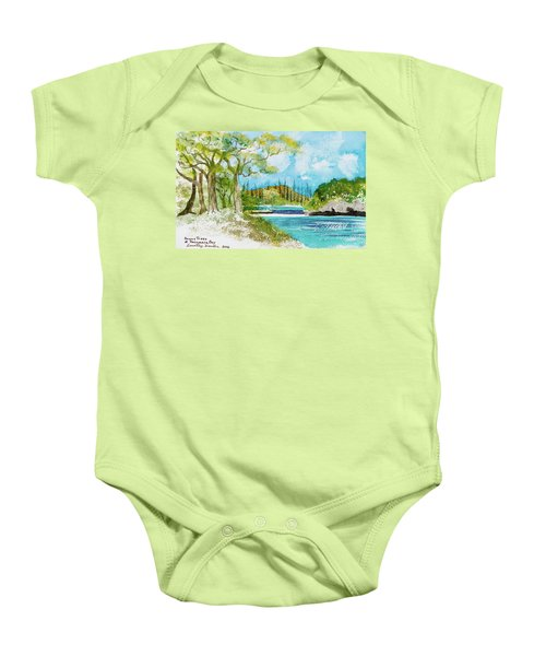 Bugny Trees At Kanumera Bay, Ile Des Pins Baby Onesie