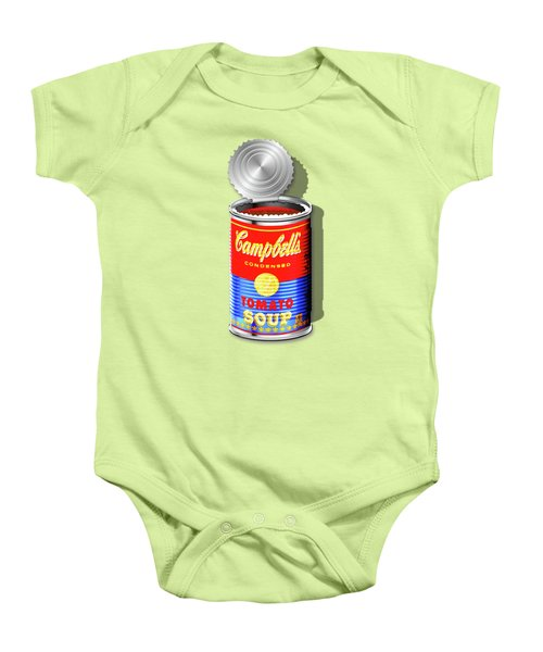 Campbell's Soup Revisited - Red And Blue   Baby Onesie