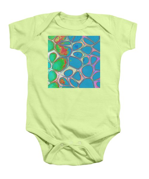 Cells Abstract Three Baby Onesie