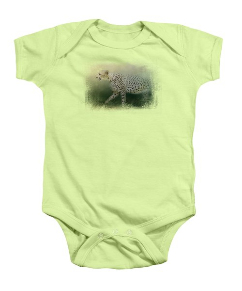 Cheetah On The Prowl Baby Onesie