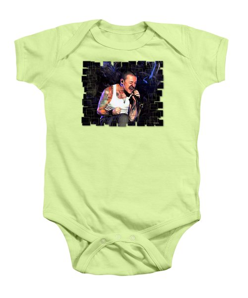 Chester Bennington Abstract Cut  Baby Onesie