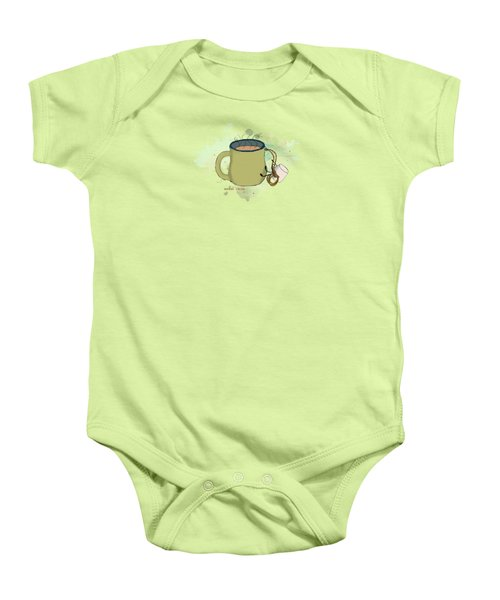 Climbing Mt Cocoa Illustrated Baby Onesie by Heather Applegate