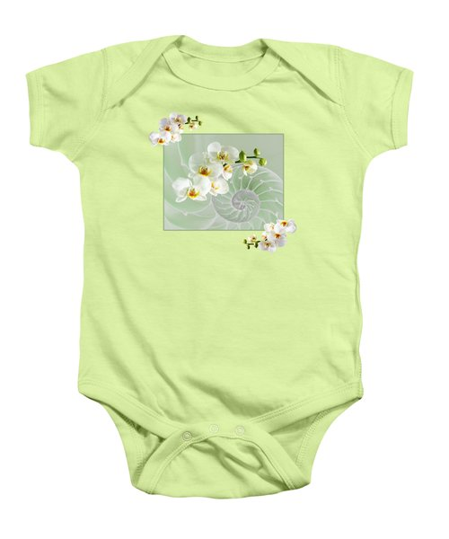 Cool Green Fusion Baby Onesie