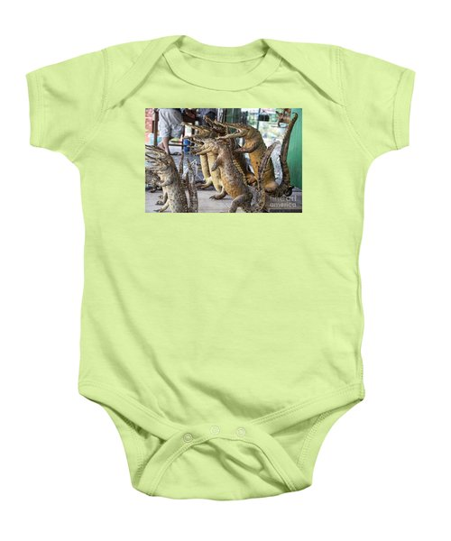 Crocodiles Rock  Baby Onesie