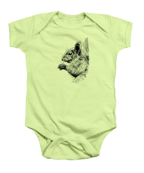 Cute Squirrel Baby Onesie