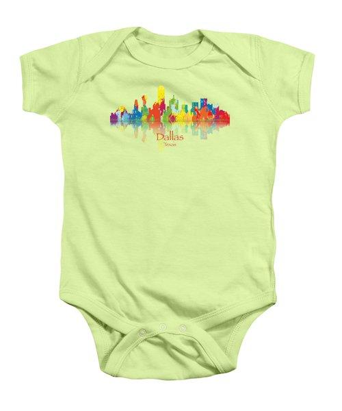 Dallas Texas Tshirts And Accessories Art Baby Onesie by Loretta Luglio