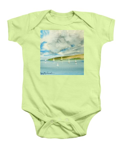 Dark Clouds Threaten Derwent River Sailing Fleet Baby Onesie