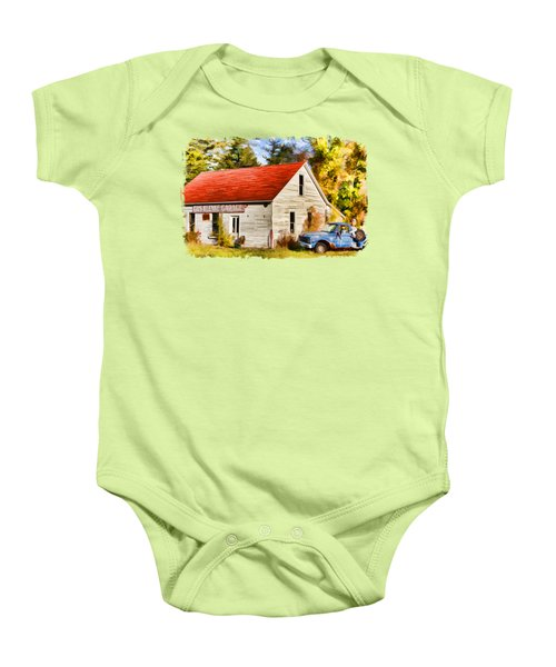 Door County Gus Klenke Garage Baby Onesie
