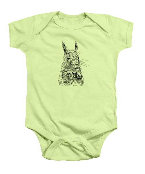 Eating Squirrel Baby Onesie