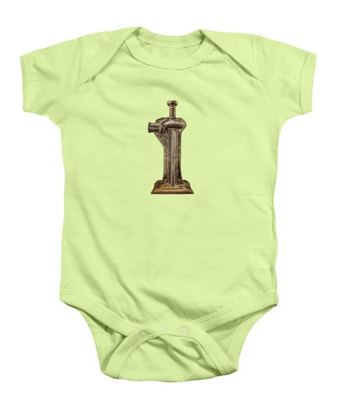 Enclosed Screw Jack I Baby Onesie