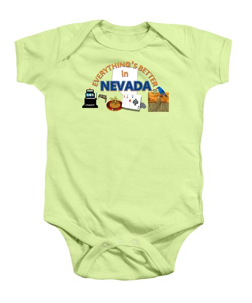 Everything's Better In Nevada Baby Onesie